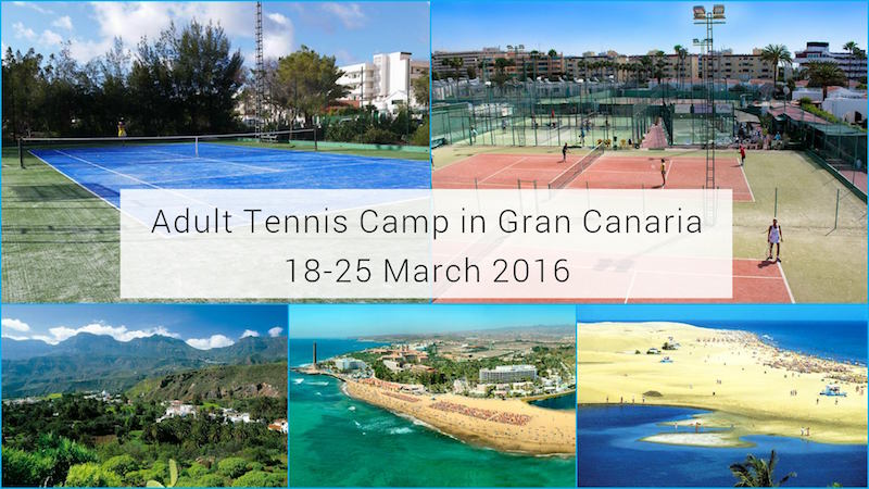 Adult Tennis Camp in Gran Canaria