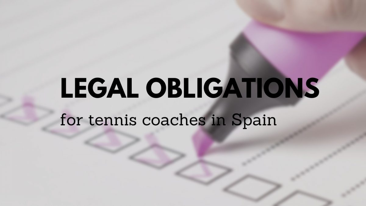 Legal requirements for tennis coaches in Spain