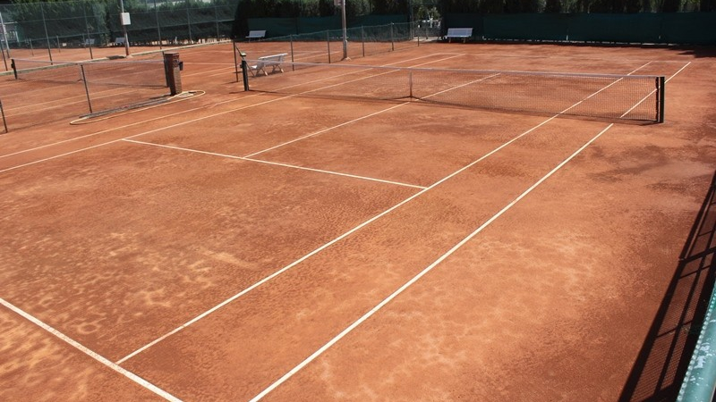 Tennis court in Barcelona