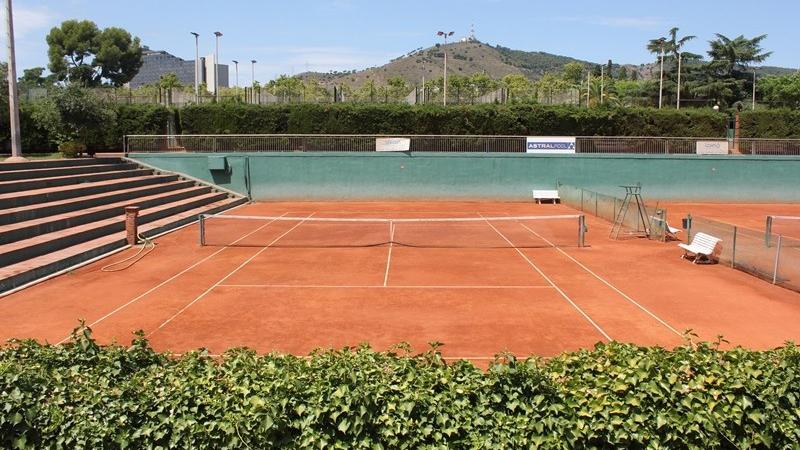 Tennis court in Barcelona